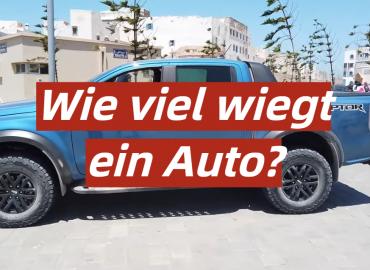 Wie viel wiegt ein Auto?